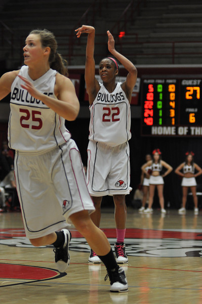 Candace Brown makes a shot against Liberty University on February 23, 2013.