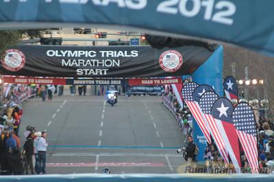 Men at 2.2 Mile Mark - 2012 US Olympic Trials Marathon