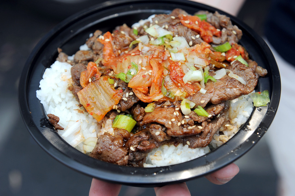 . (John Valenzuela/Staff Photographer) An order of Kalbi, beef marinated Korean Style at the second annual Food Truck and Brewfest in Redlands Saturday, June 29, 2013.