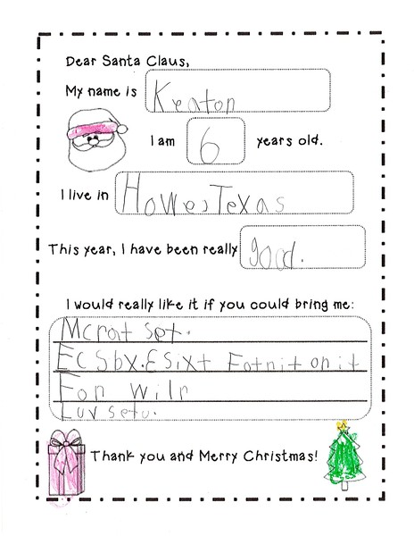 2018 Kindergarten - Mrs. RIchardson Letters to Santa (9).jpg