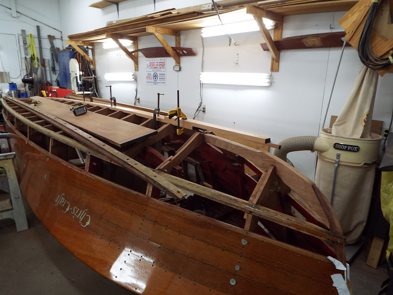 Starting to fit the new keel.