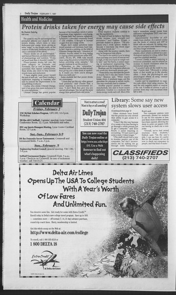 Daily Trojan, Vol. 130, No. 20, February 07, 1997