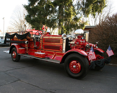 Old NAFD fire trucks.