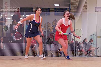 2012-01-13 Pamela Larromana (Trinity) and Laura Caty (Cornell)