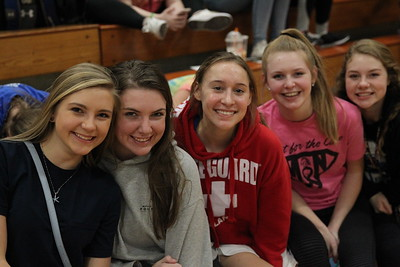 Fans and Trainers at the MN vs Papio Titans bball