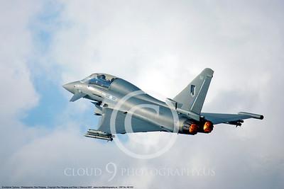 AFTERBURNER: British RAF Eurofigher Typhoon Jet Fighter Afterburner Pictures