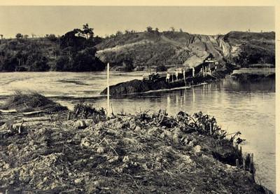 1960 - Desvio do rio Luembe para exploracao do leito junto da leziria de Cataila