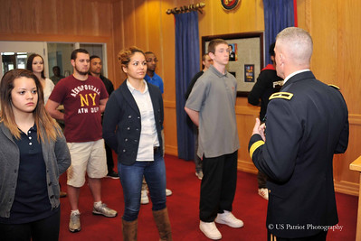 PVT Grigsby Enlistment Ceremony, 28 MAR 13