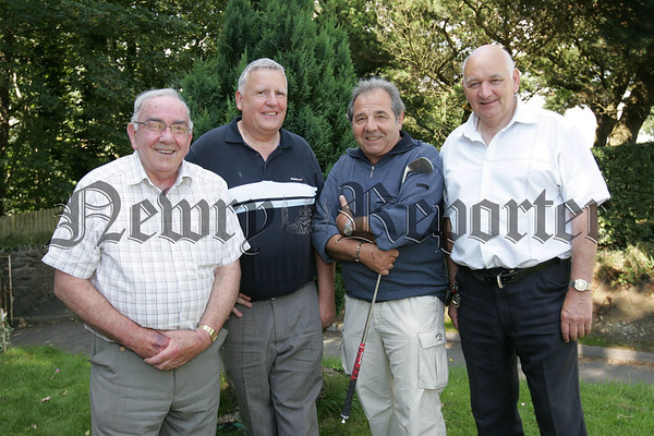 Pictured at Cloughoge Pitch and Putt Seniors Day are, Kevin McShane, Eddie Moley, Thomas Mallocca and Des Loy.