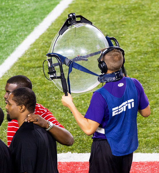 The ESPN Parabolic receiver tracks sound from the field.