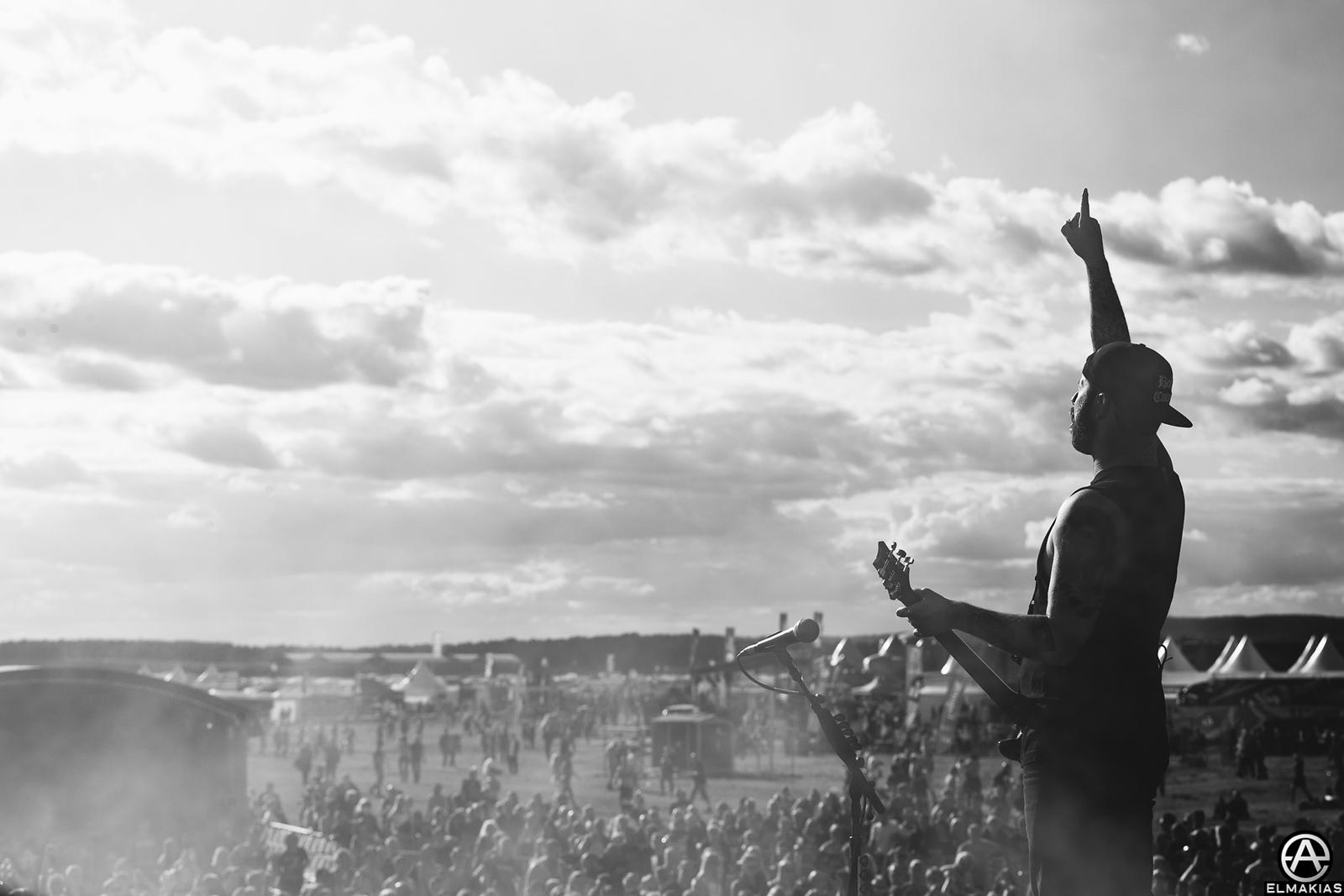 Kevin Skaff of A Day To Remember at Bravalla Festival in Norrköping, Sweden