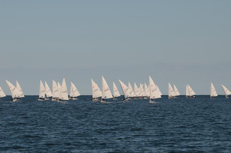 fleet coming downwind