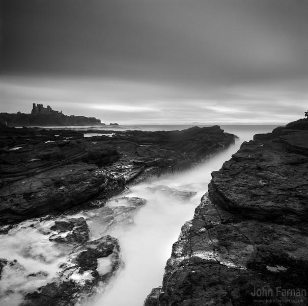 Tantallon Castle from Seacliff