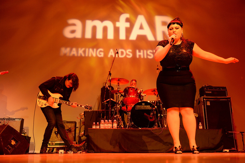 . Musician Beth Ditto of band Gossip onstage at amfAR Inspiration Gala during the 2013 Toronto International Film Festival on September 8, 2013 in Toronto, Canada.  (Photo by Jason Kempin/Getty Images)