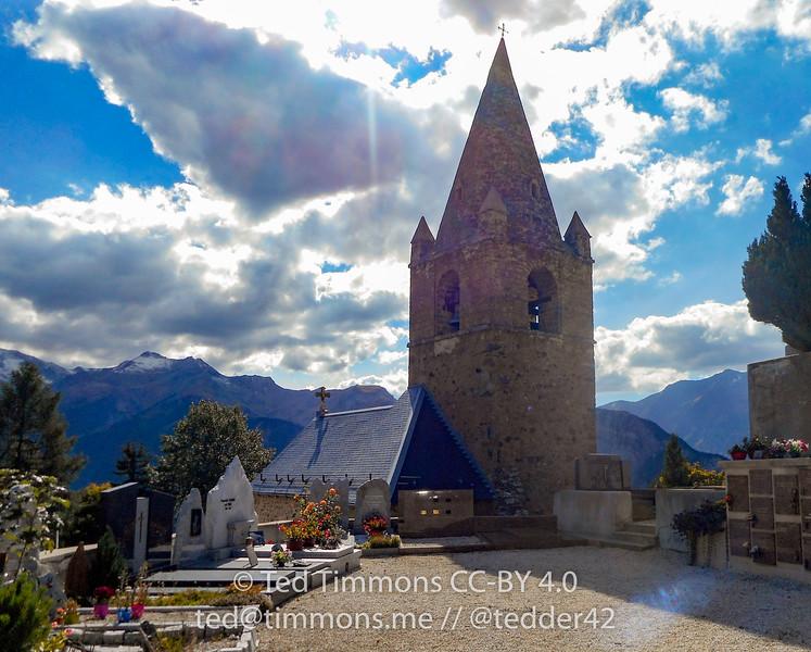 Parish church on the Alpe d'Huez climb.