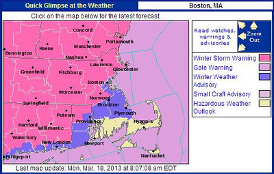 weather map, winter storm warning