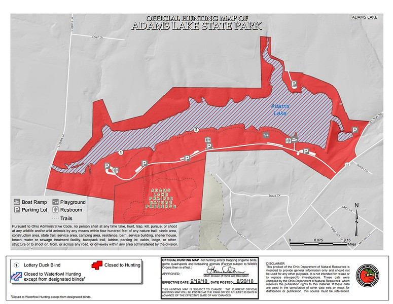 Adams Lake State Park (Hunting Map)