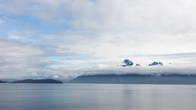Entering Glacier Bay.