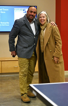 12/5/2019 Mike Orazzi | StaffrJay Maia. Bristol Boys & Girls Club Vice President of. Professional Development with Rosa Gatti during the 5 Year Celebration of the Boys and Girls Club's new structure on West Street Thursday evening.