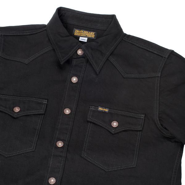 IHSH-166 - Superblack 12oz Selvedge Denim CPO Style Western Shirt-6221.jpg