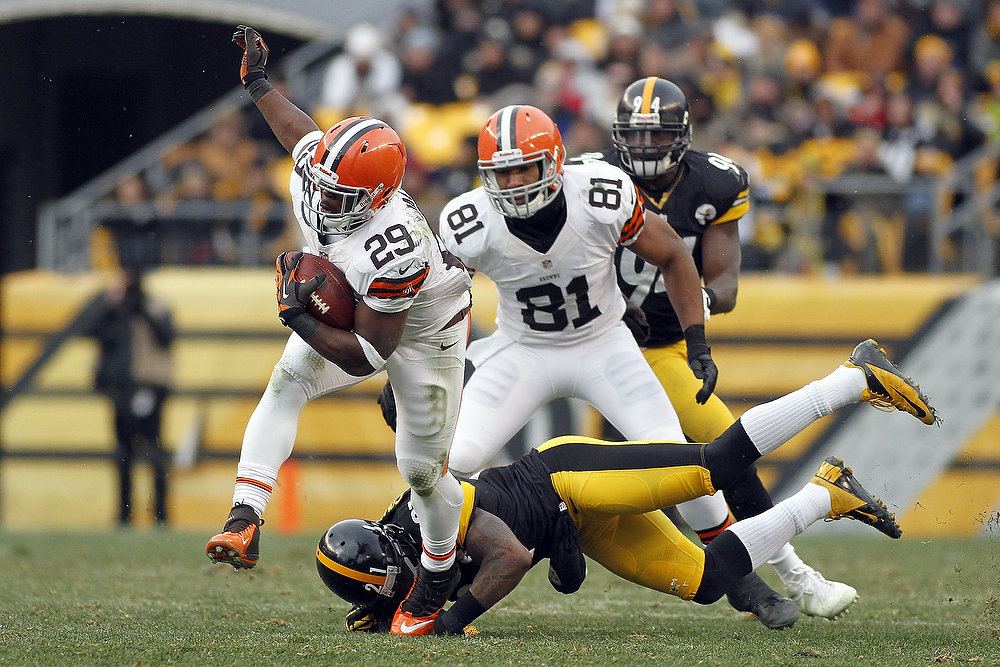 Description of . Brandon Jackson #29 of the Cleveland Browns carries the ball against the Pittsburgh Steelers during the game on December 30, 2012 at Heinz Field in Pittsburgh, Pennsylvania.  The Steelers defeated the Browns 24-10.  (Photo by Justin K. Aller/Getty Images)