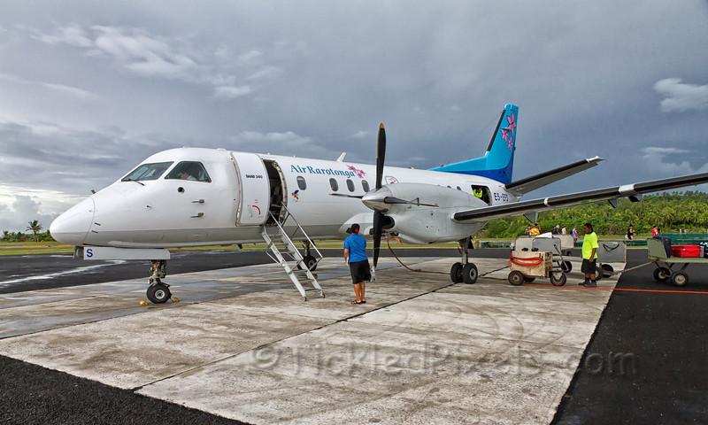 Air Rarotonga at Aitutaki