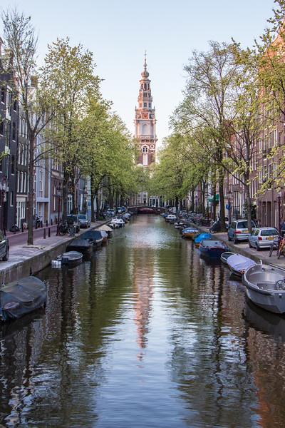 Zuiderkerk at the Groenburgwal Canal