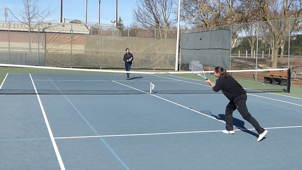 Anna and Lonny's Morgan Hill Tennis Practice Videos