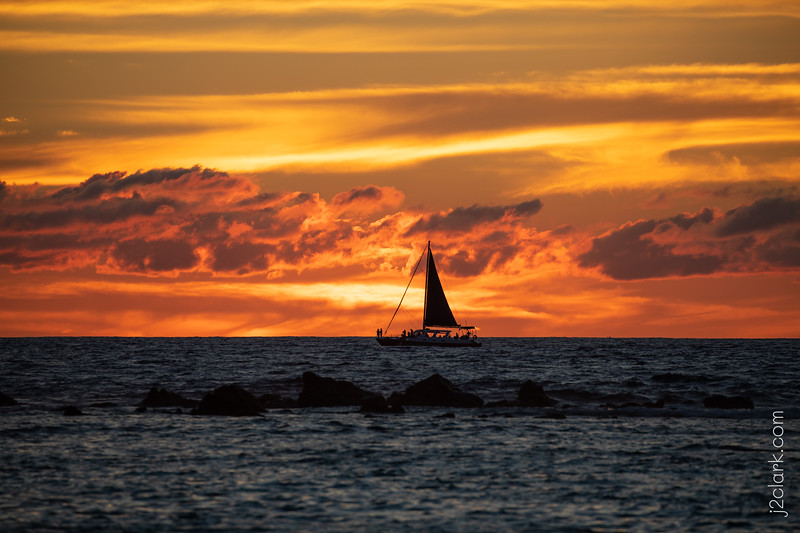 Sunset at Kahalu'u Beach