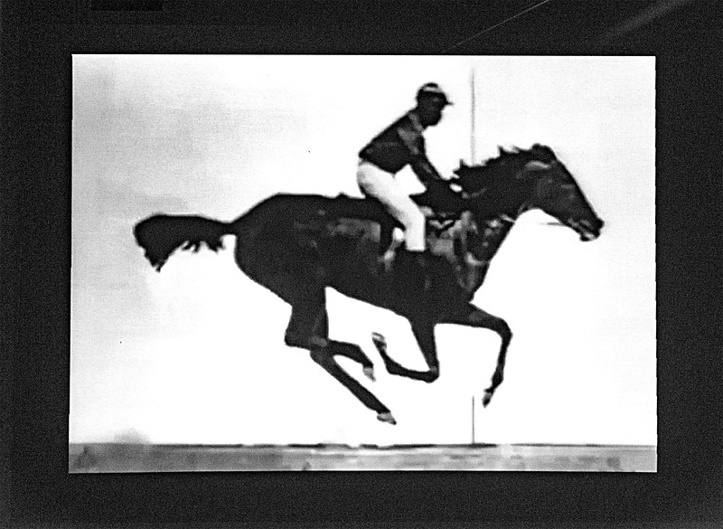 Tony Schwartz ruminates on Muybridge's galloping horse.  (See: http://www.uh.edu/engines/epi826.htm )