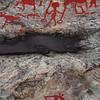 Prehistoric rock carving in Naemforsen, Sweden