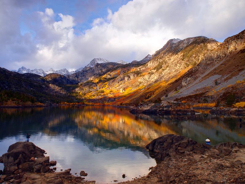 Lake Sabrina early morning light.