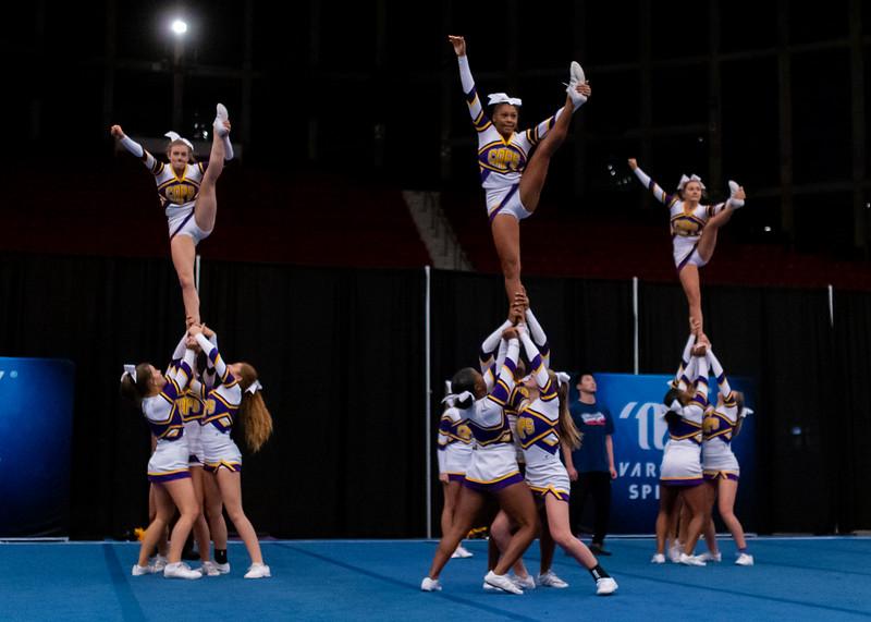 Broughton cheerleading Pre-States. November 16, 2019. D4S_1723