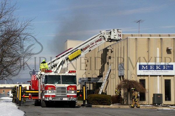01.11.15 3rd Alarm Warehouse fire in Ephrata Township