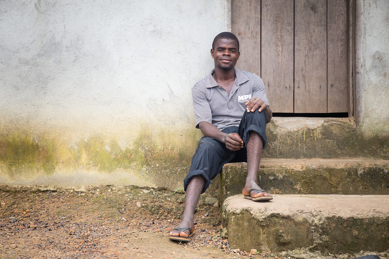 Monrovia, Liberia October 8, 2017 - Boimah Dorley, worked with Carter Center CJA to settle a debt dispute that involved police and possible jail time.