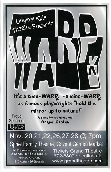 Fall 2003 - WARP X