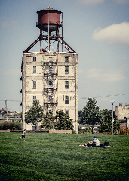 Water Tower near The Fields Park
