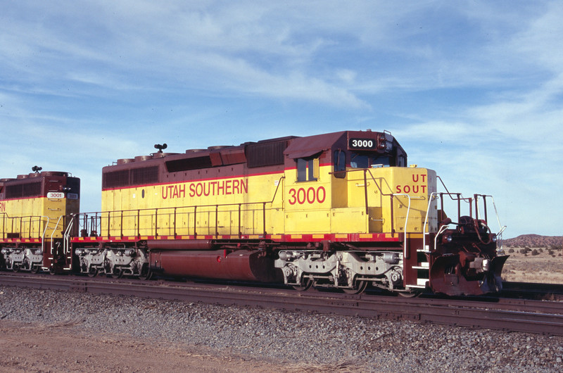 Utah Southern SD40-2 3000. Iron Springs, Utah. December 29, 2011. <i>(Robert Lehmuth Photo)</i>