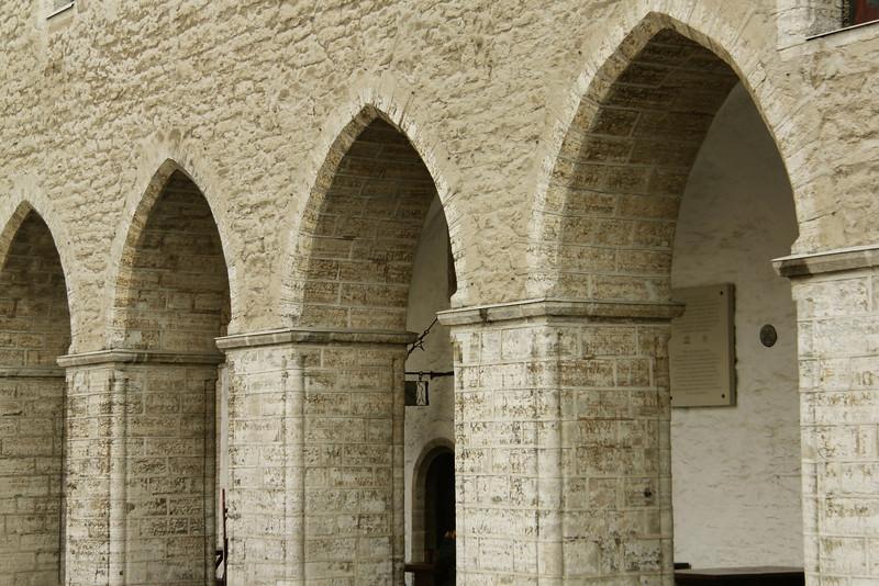 Archways of the Town Hall Building -Tallinn, Estonia