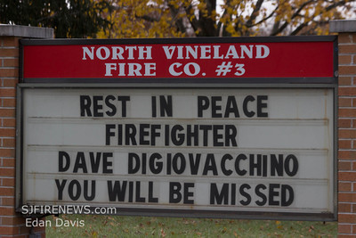 11/15/2012, Funeral  for Fire Fighter Dave Digiovacchino, Vineland, Cumberland County