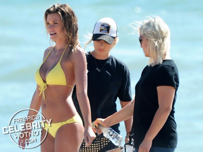 EXCLUSIVE: Samantha Hoopes Turns Heads In Yellow Bikini, LA