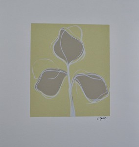 """Floral 120 by C Press, monoprint on 13 1/4"""" x 11"""" paper"""
