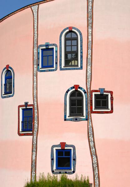 Facade Detail, Stammhaus, Bad Blumau, Austria
