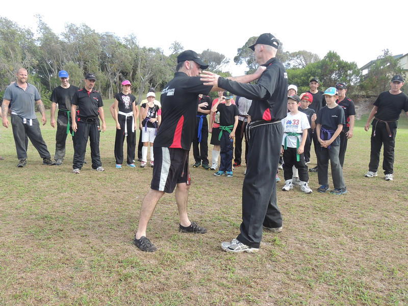 Chris Evans & Shihan Martin Day Combat Karate Noosa. One Day self defence & combat karate training for all on the Sunshine Coast, Australia. Kyusho pressure points training.