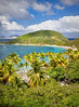 Beautiful coastline of the British Virgin Islands.