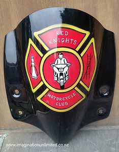 Firemans motorcycle club logo