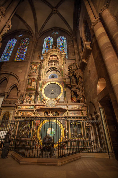 The Astronomical clock inside the Strasbourg Cathedral.