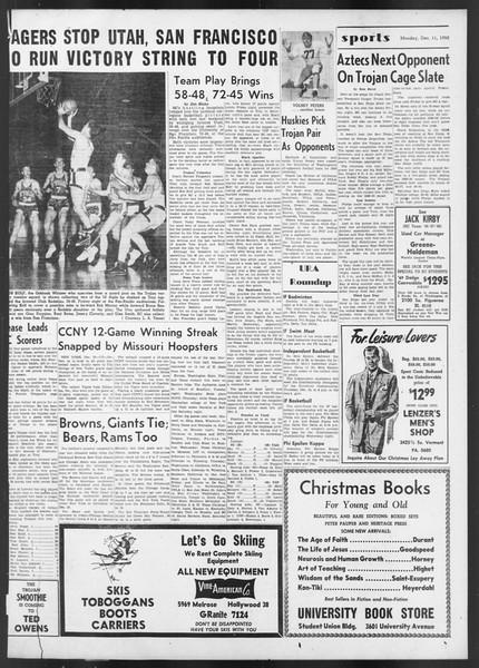 Daily Trojan, Vol. 42, No. 58, December 11, 1950