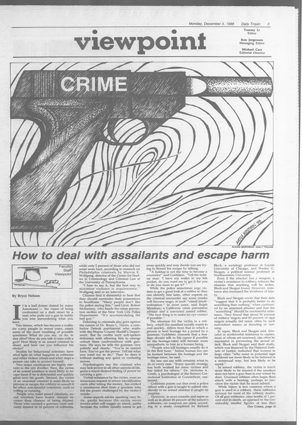 Daily Trojan, Vol. 107, No. 60, December 05, 1988