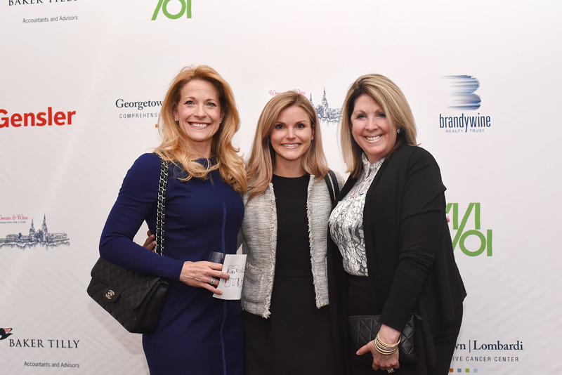 Sabret Flocos, Erin Cotter, Sherrie Beckstead. 13th Annual Women & Wine Connection for a Cure. April 18, 2018. The Ritz-Carlton Tysons Corner. Amanda Warden..jpg